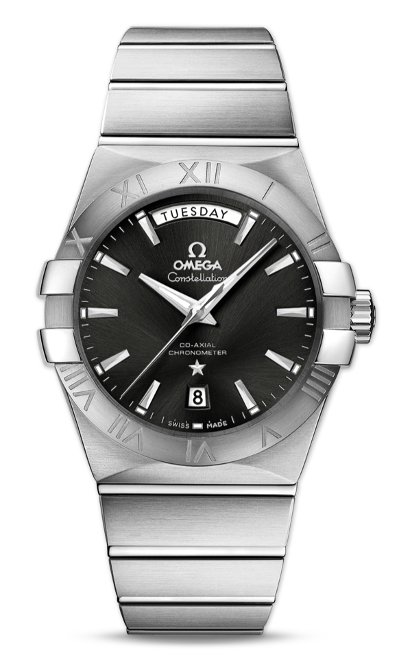 Omega Constellation Day-Date Black Dial Replica Watches UK