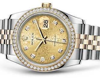 Pretty Women's Rolex Datejust Diamond Replica Watches UK Sale