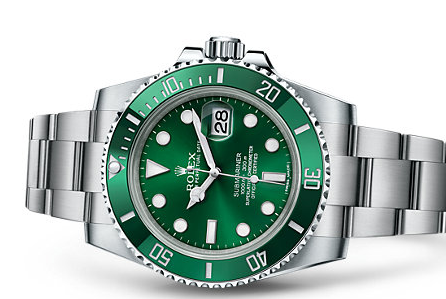 Pretty Women's Rolex Submariner Date Green Dial Replica Watches UK Sale