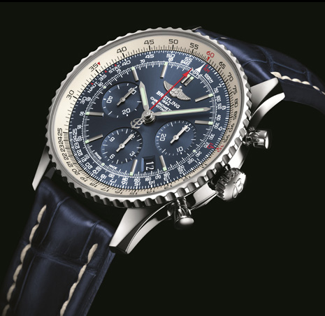 Sporty UK Breitling Navitimer Blue Sky 60th Anniversary Limited Edition Replica Watches With Blue Dials