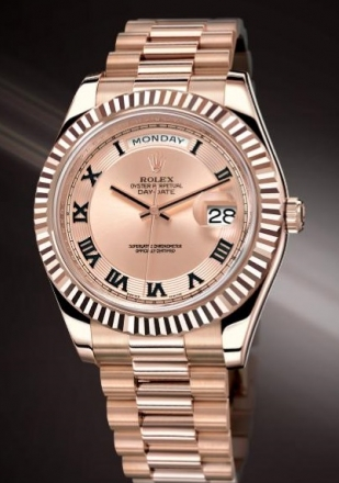 Pink Dials Rolex Day-Date Fake Watches
