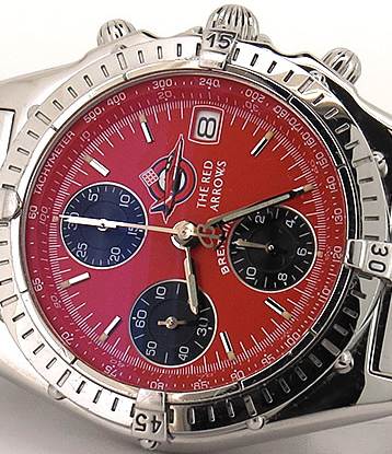 Best Swiss Red Dials Breitling Chronomat Red Arrows Limited Edition Copy Watches