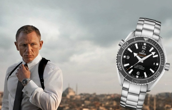 Daniel Craig Interpreted Black Dials Omega Seamaster Planet Ocean 600M Replica Watches Hot Sale