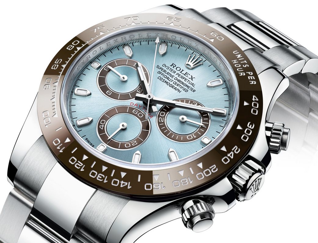 Ruby Lin Bought UK Unique Rolex Daytona 116506 Copy Watches With Ice Blue Dials