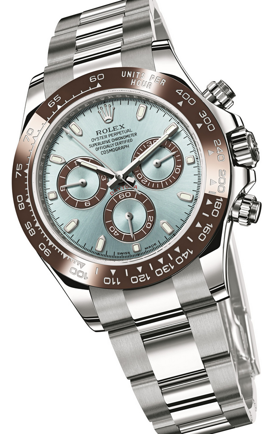 Ruby Lin Bought UK Unique Rolex Daytona 116506 Replica Watches With Ice Blue Dials