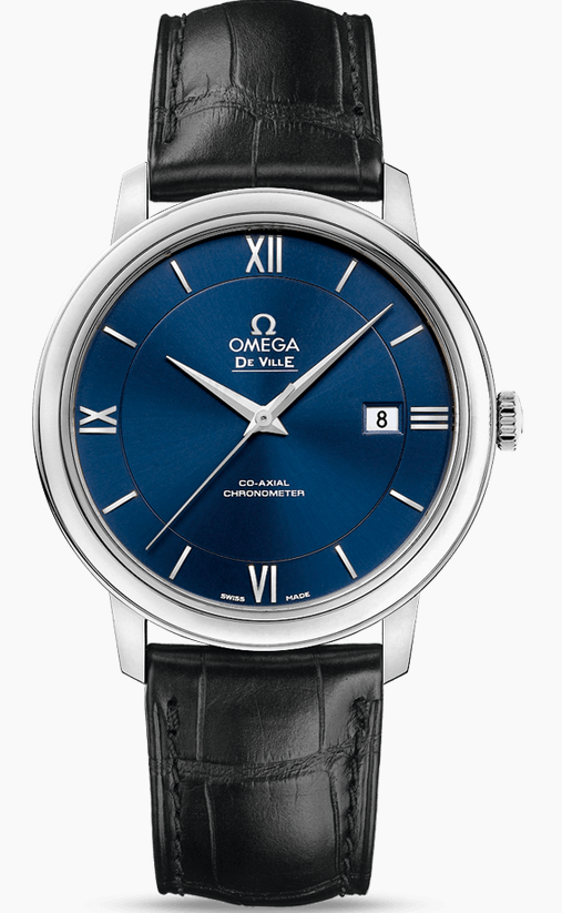 Omega De Ville Prestige Fake Watches With Blue Dials