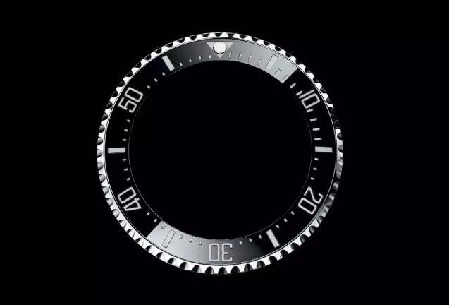 The bezel of Rolex Submariner is distinctive and recognizable.