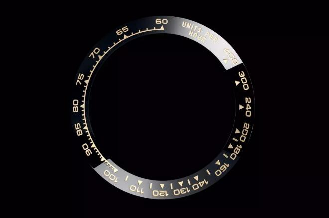 The Tachymeter could helpe the wearers to calculate the speed of racing.