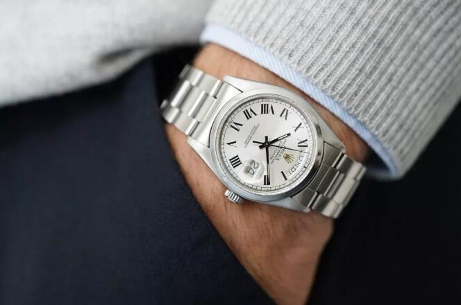 This Rolex Day-Date has been made of steel, making it very precious as Day-Date has always been made of precious metal.