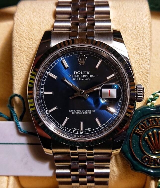 This Datejust has contained all the iconic features of Rolex.
