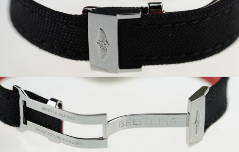 The stainless steel fake watches have black nylon straps.