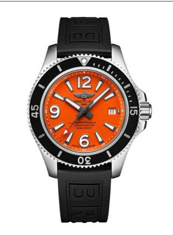 The orange dials fake watches have black rubber straps.