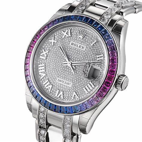 The luxury fake watches are decorated with sapphires.